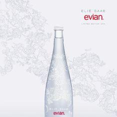 La bouteille Evian s'habille en Elie Saab haute couture pour les Fêtes