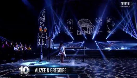 Alizée et son partenaire Grégoire Lyonnet ont ému le public avec leur rumba