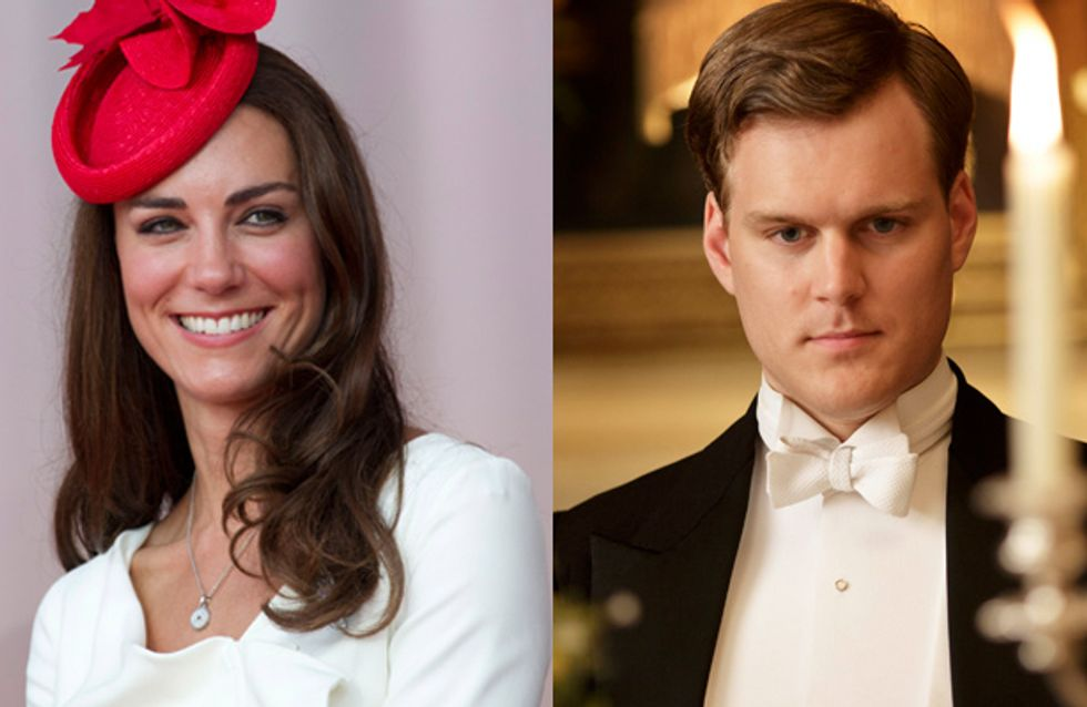Kate Middleton's schoolgirl crush makes his debut on Downton Abbey