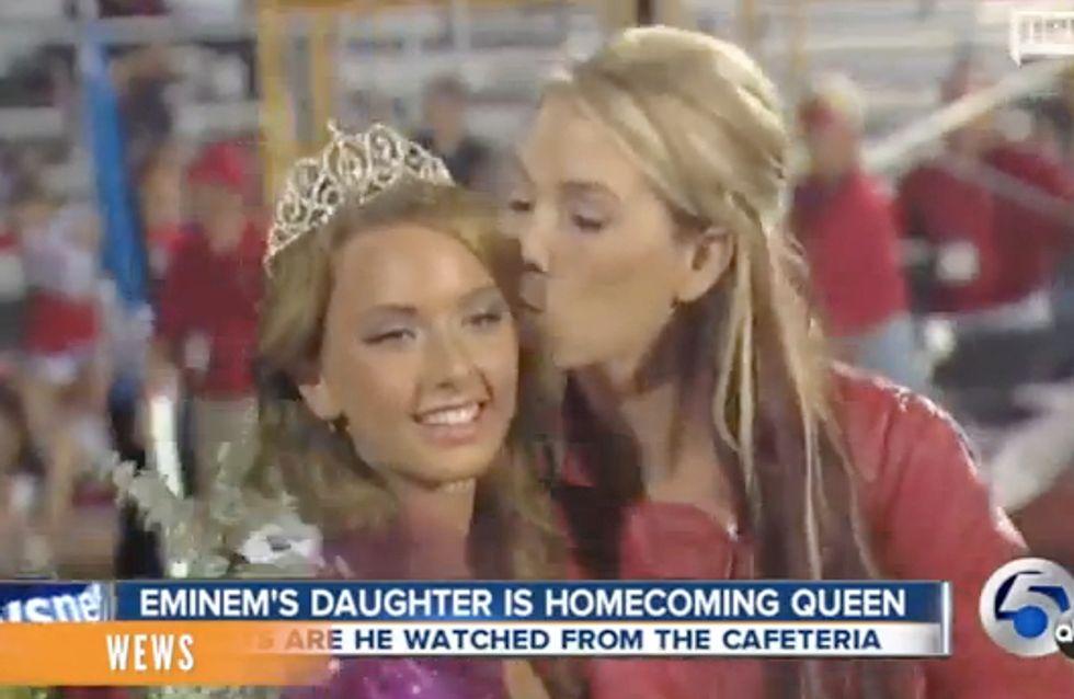 Eminem : Sa fille Hailie devient Reine du lycée (Vidéo)