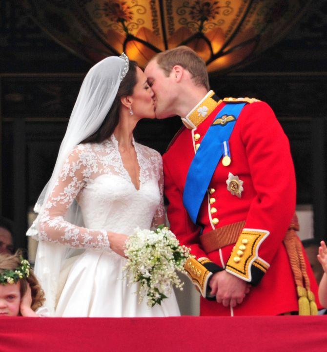 William & Kate bei ihrer Hochzeit