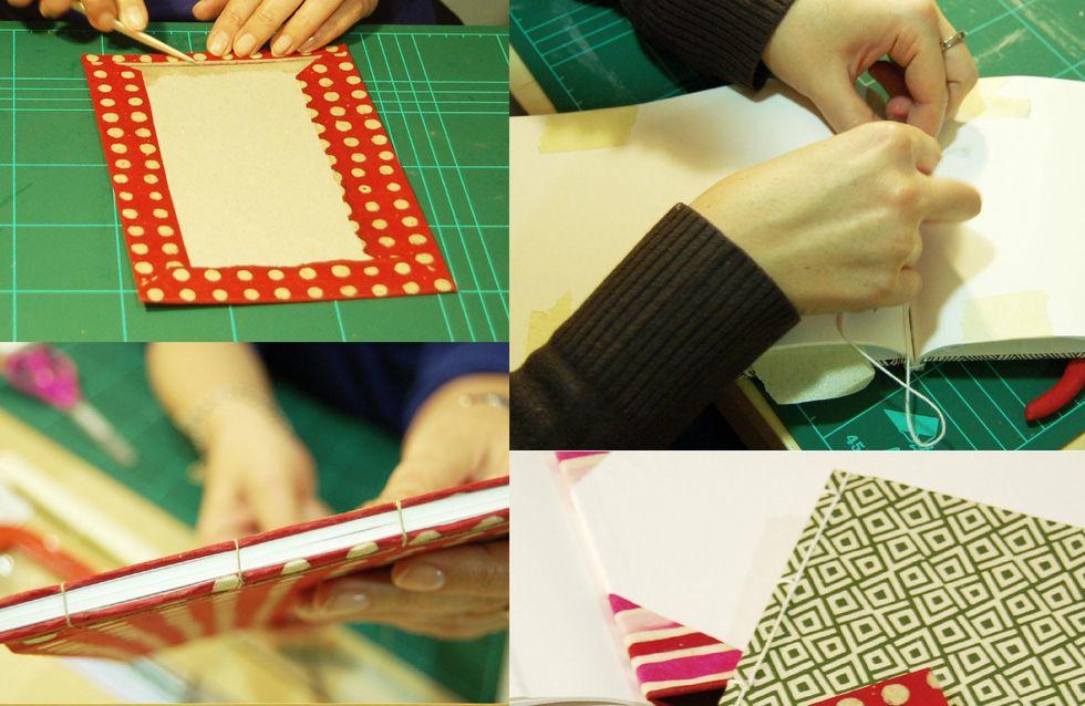 Iníciate en las técnicas Do it Yourself de cosido japonés y stencil