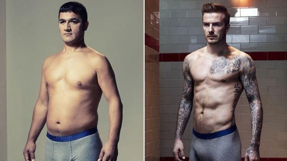"""Quand des hommes """"normaux"""" posent comme David Beckham ou Ronaldo en slip..."""