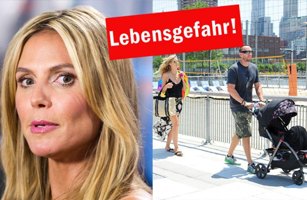 Heidi Klums Design-Flop: Ihr Kinderwagen ist lebensgefährlich!