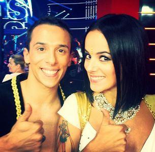 Alizée et son danseur Grégoire