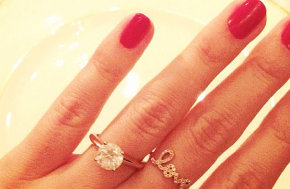 Congrats! Lauren Conrad flashes her engagement ring