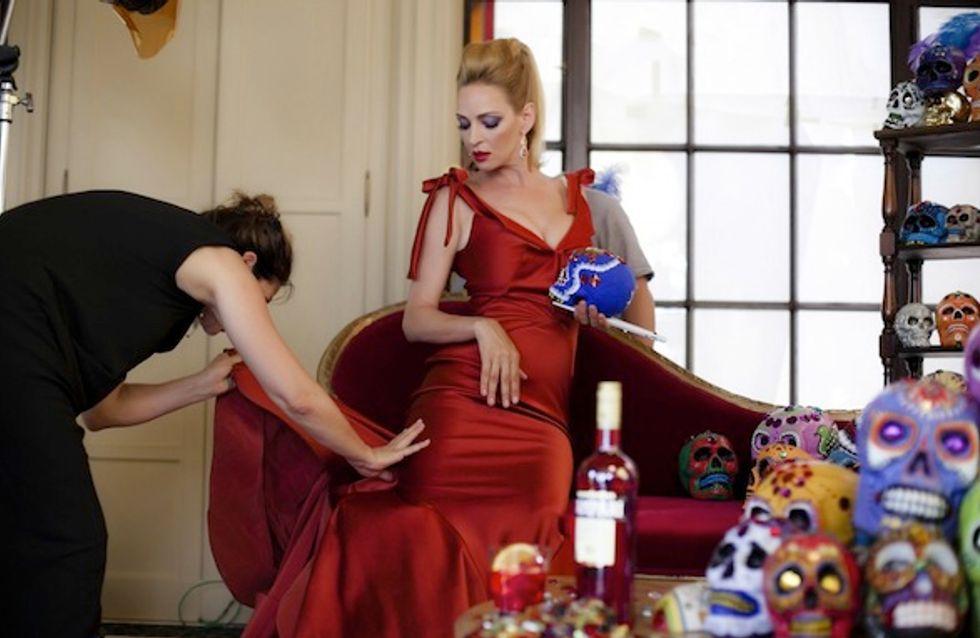 Una sexy Uma Thurman, imagen del calendario Campari 2014