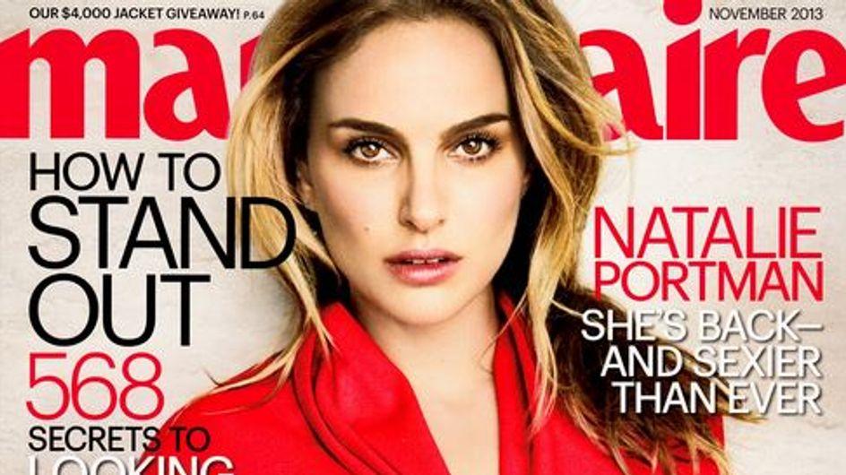 Natalie Portman, surprenante en couverture de Marie-Claire