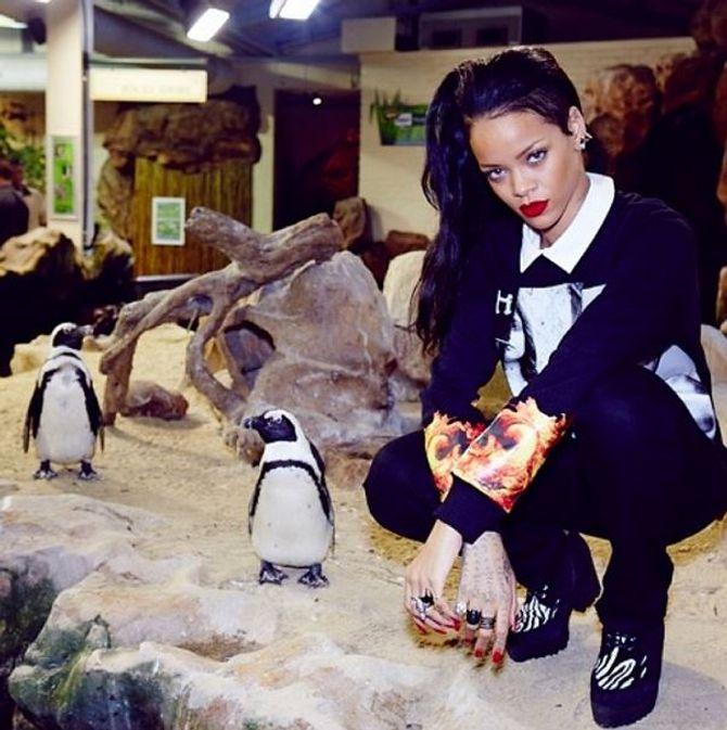 Rihanna cheveux longs