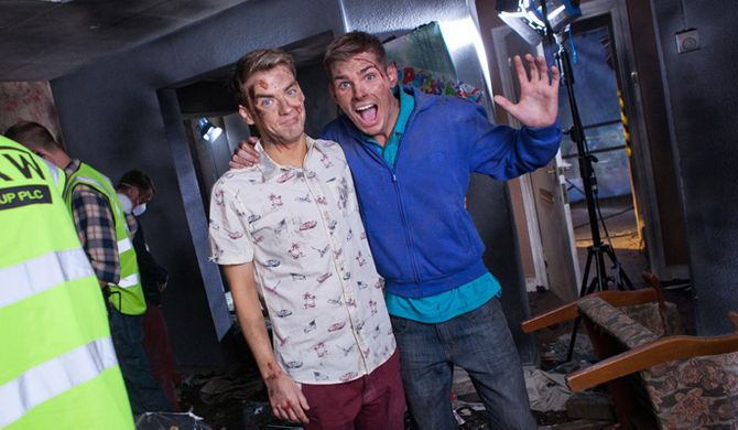 PJ Brennan and Kieron Richardson