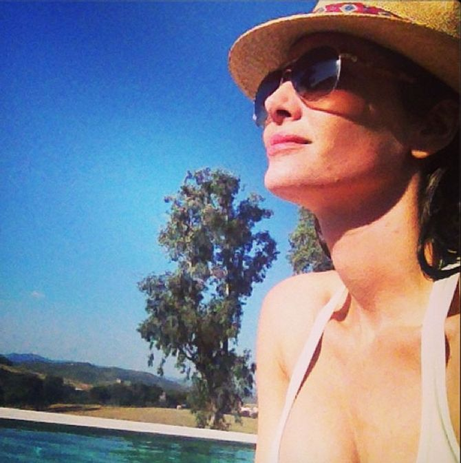 Eugenia Silva disfruta de sus últimos momentos de vacaciones