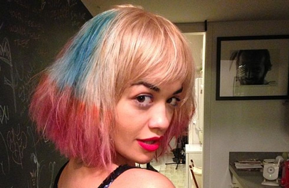 Rita Ora's at it again! Singer dyes hair pink and blue
