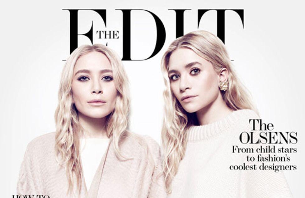 Les sœurs Olsen assurent en couverture de The Edit