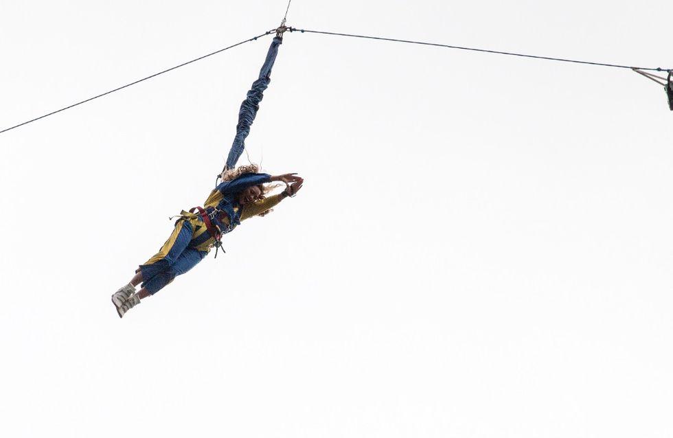 Beyoncé : Elle saute d'une tour haute de 328 mètres ! (Vidéo)