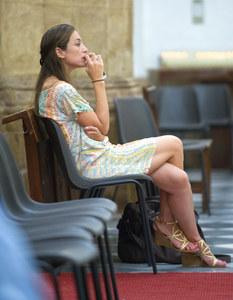 Tamara Falcó en misa