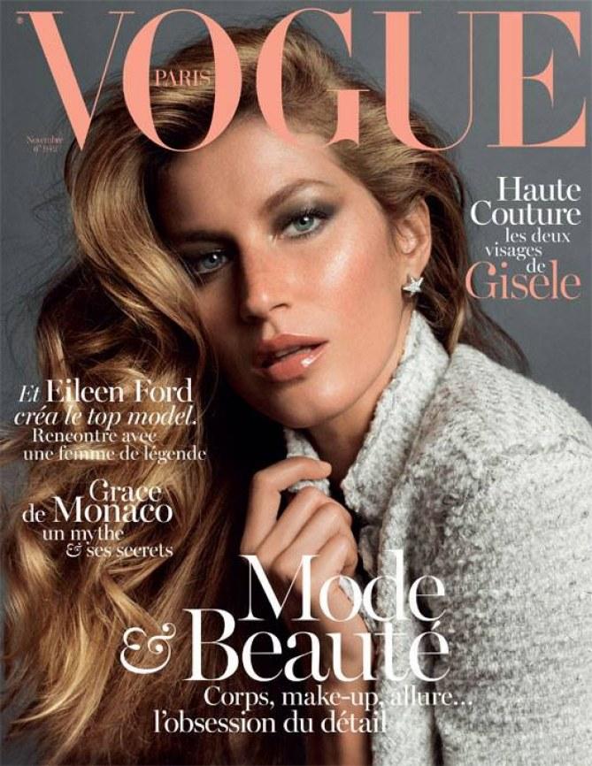 Gisele Bündchen pour Vogue novembre 2013