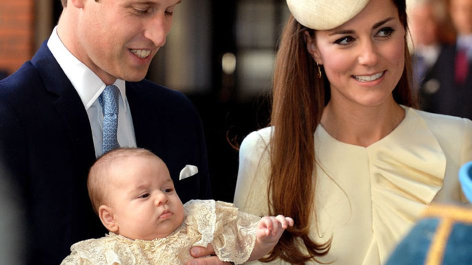 Prince William and Kate Middleton are proud parents at George's christening