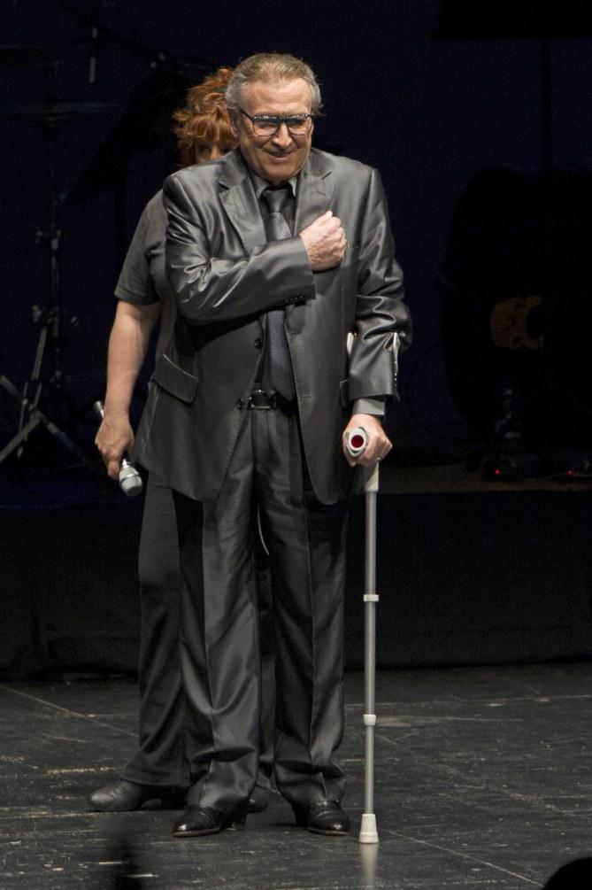 Manolo Escobar en abril de 2013 durante un homenaje en Almería