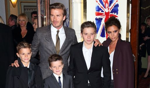 David and Victoria Beckham and their sons