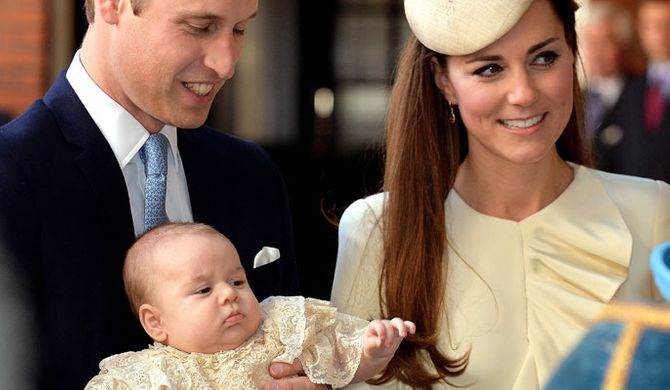 Prince William, baby George and Kate Middleton