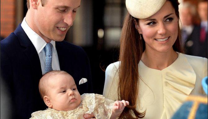Kate et William pour le baptême de George