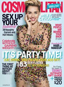 Miley Cyrus en couverture de Cosmopolitan