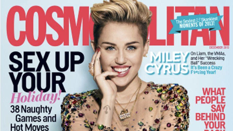 Miley Cyrus, chic et cool en couverture de Cosmopolitan
