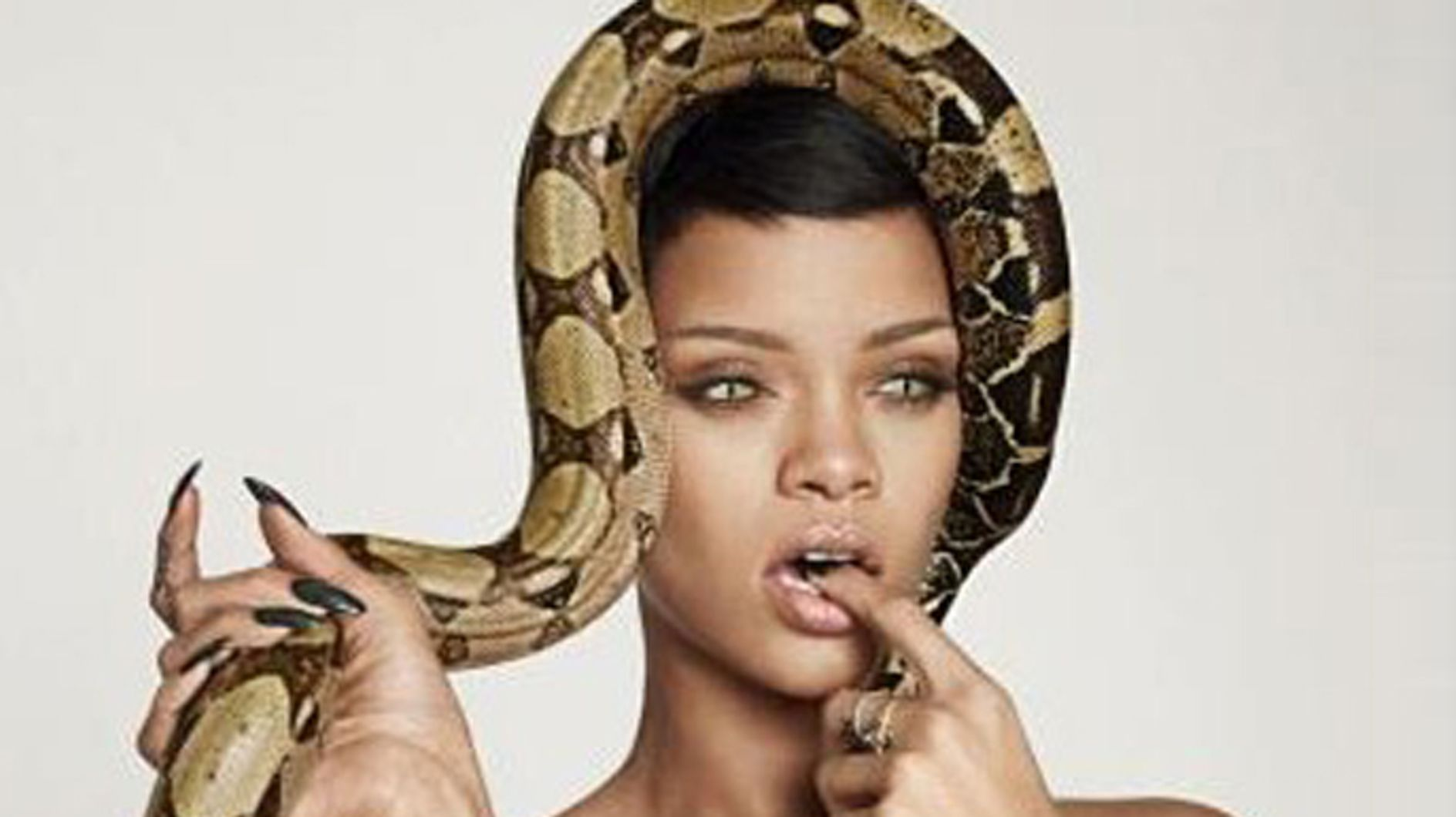 Rihanna Poses Naked With Snakes for British GQ