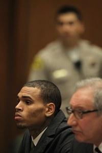 Chris Brown au tribunal de Los Angeles (2013)