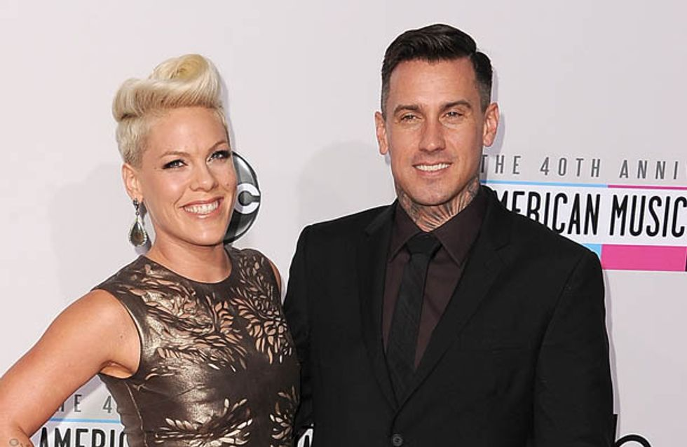 Pink defends husband after he takes 2-year-old daughter motorcycling without helmet