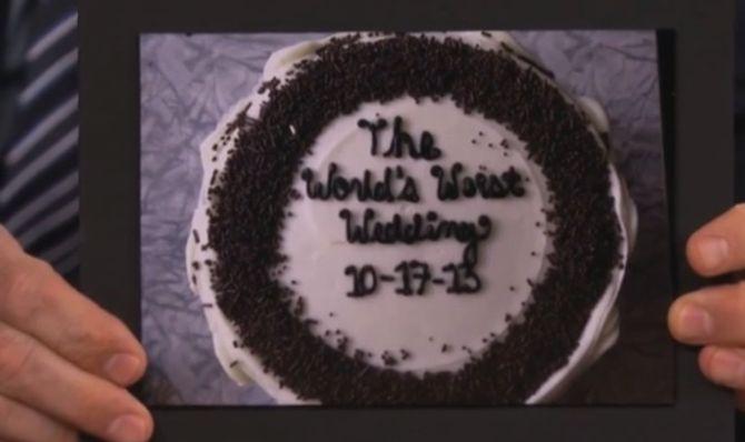 Le gâteau du prie mariage du monde