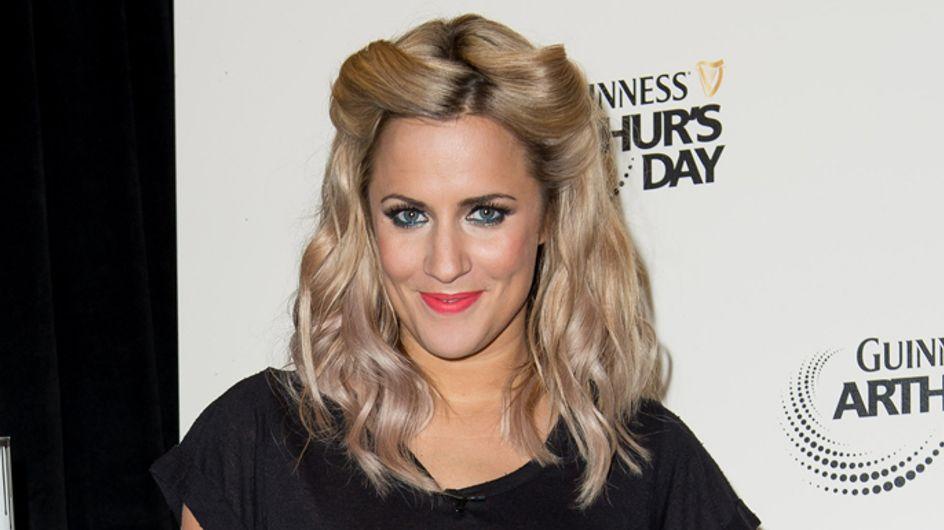 Caroline Flack swaps ombre hair for platinum blonde