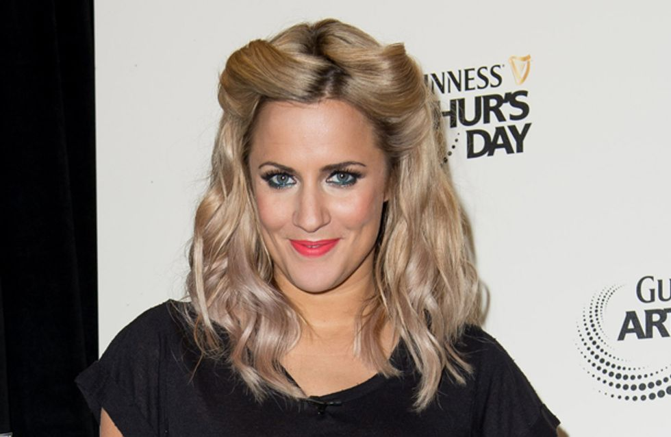 Caroline Flack swaps ombre hair for platinum blonde
