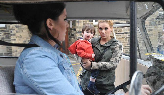 Amy picks up Kyle