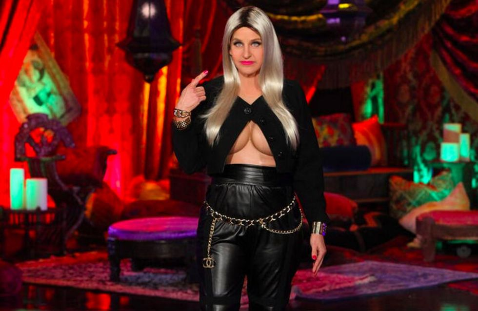 Hilarious! Ellen Degeneres dressed up as a boob-bearing Nicki Minaj for Halloween