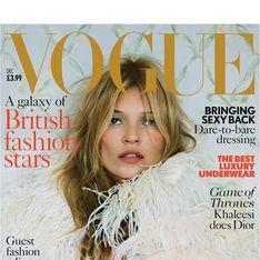 Kate Moss : Intemporelle en couverture de Vogue UK (photos)