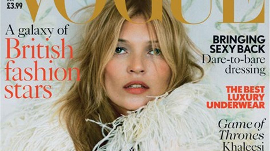 Kate Moss : Intemporelle en couverture de Vogue UK (photos)