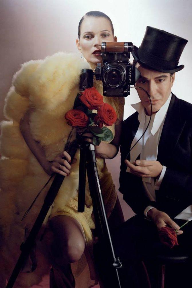 Kate Moss et John Galliano dans les pages du Vogue UK de décembre 2013