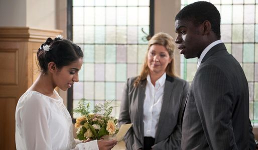 Phoebe reads her vows to Vincent