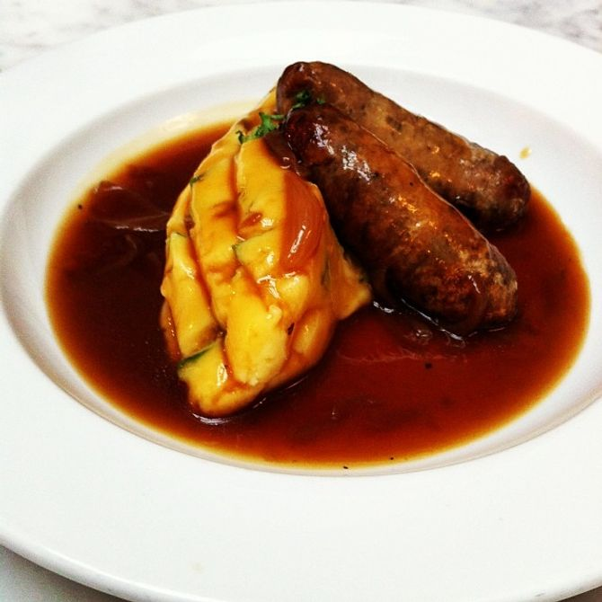 Sausage and Mash at Mother Mash