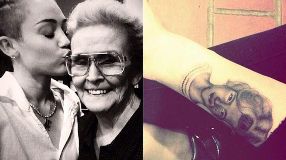 Neues Tattoo: Miley Cyrus lässt sich ihre Oma stechen