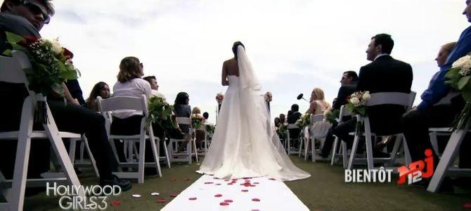Nabilla en robe de mariée