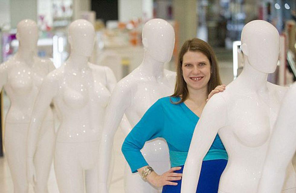 Debenhams launch size 16 mannequins in store