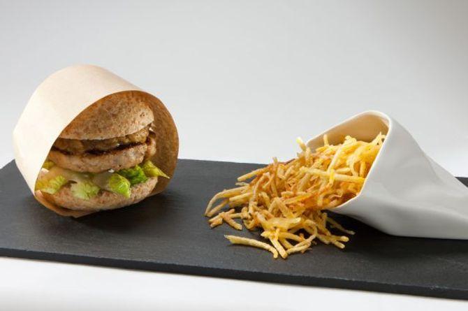 Hamburguesa gourmet de foie
