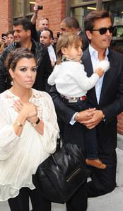 Scott Disick, Kourtney Kardashian and son Mason