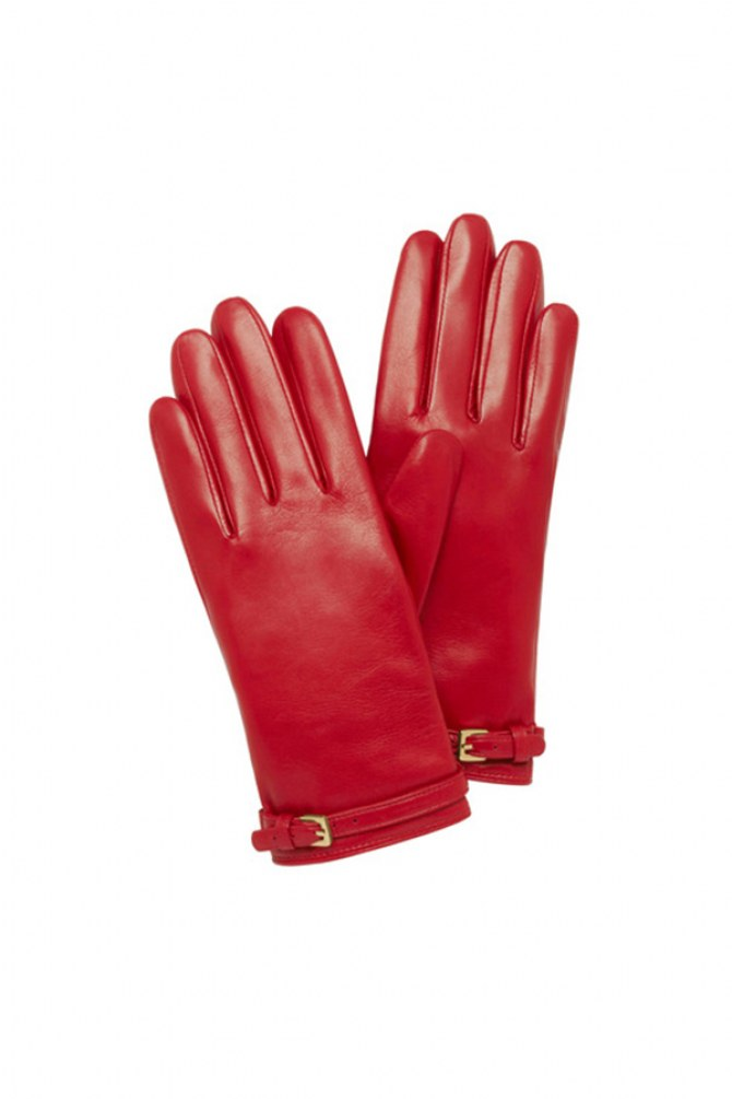 Buckle strap gloves - £195