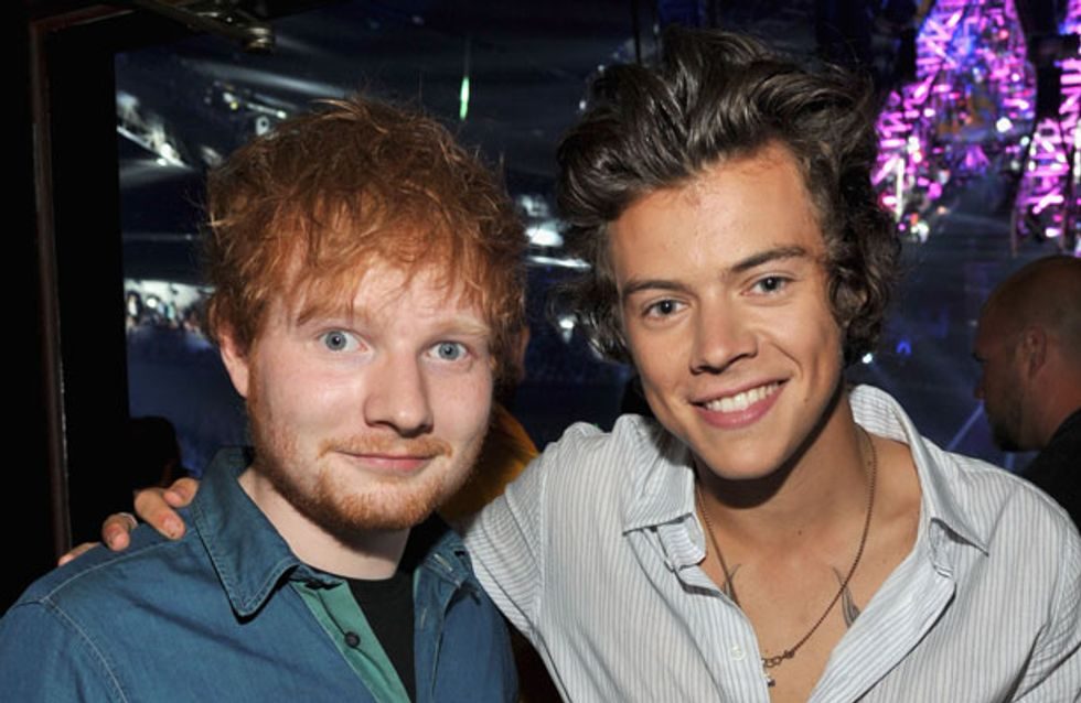 Ed Sheeran tries to make peace between One Direction and The Wanted