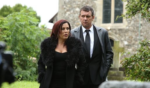 Kat and Alfie attend Michael's funeral