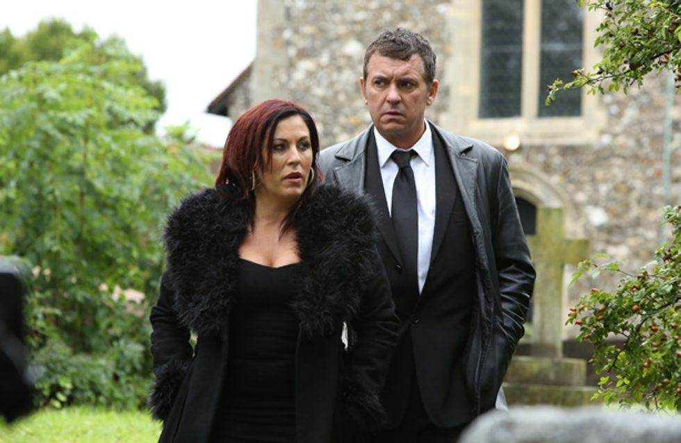 EastEnders 19/11 – Alfie and Kat attend Michael's funeral