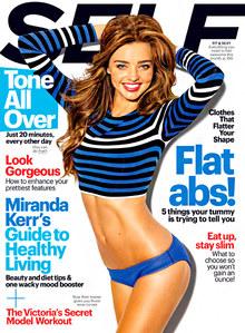 Miranda Kerr en couverture de Self Magazine